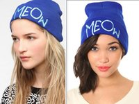 Wholesale United Couture Meow Beanie Beanie Caps Nice Quality Beanie Cap Hats adorable knit hat Embroidered Logo