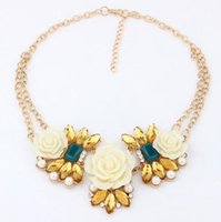 Chokers big magazine - statement necklaces for women necklaces set long choker drop shipping cheap jewelry body chain European and American big magazine d
