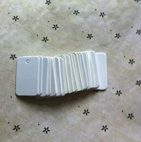 Wholesale 5 CM White blank wedding tag clothing price retro hang tag packaging label