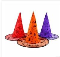 activity wizard - 25g halloween activities pumpkin Wizard Hat witch hat tip flocking cap