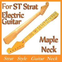 guitar neck - BRAND NEW Replacement Maple Fingerboard Dot Fret ST Strat Electric Guitar Maple Neck Strat Style Guitar Neck