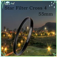 filter - 55mm Lens Star Filter To LC Cross x pt Point For Nikon For Canon EOS For Sony NEX Fast Shipping DHL