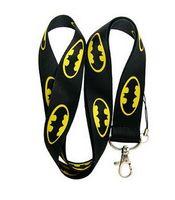 apple logo keychain - Hero Bat Man Logo Lanyard New cartoon anime Batman lanyard neck strap mobile Phone straps holder keys keychain for Children kids boys girls