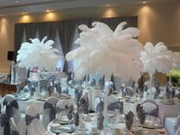 wedding table decoration - inch Ostrich Feather plumes white for Wedding centerpiece decoraction party event prom decor supply