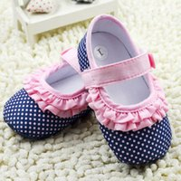 crib shoes - Infant Girl Dot Baby Princess Shoes Soft Sole Toddler Anti slip Crib Shoes M