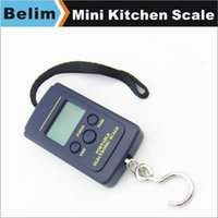 Cheap Wholesale-Free Shipping 40KG 10g Mini Portable Scale Household Digital Scales Fishing Hook Pocket Weighing Scale With Batteries YC028