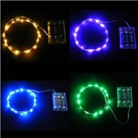 Wholesale Indor lamp M LED battery Mini LED Copper Wire string light AA Battery Operated Fairy Party Wedding Christmas Flashing LED strip