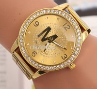 mens gold watches - Mens Watches Stainless Steel Watch Gold watches for Women luxury watches Fashion Metal Quartz wristwatch New Crystal Watches Colors