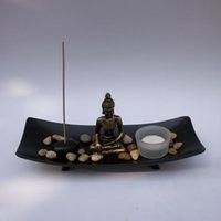 Wholesale HT217 Buddha Buddhist supplies Decoration Candlestick sandbox Fragrances