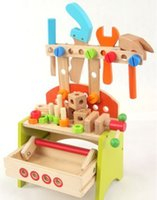 Wholesale Multifunctional Wooden Tool Kit All wooden for kids to play wood tool yoy
