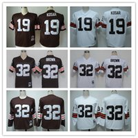 throwback football jersey - top quality men s Bernie Kosar Jim Brown throwback Football Jerseys stitched jersey Mix Order
