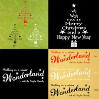 Wholesale Removable DIY Wall Sticker Christmas Tree Letters Wonderland Art Mural Vinyl Wall Decor Nontoxic PVC Decals Wall Window Stickers Home Decors
