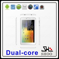 Bon Marché Android tablet with sim card slot-Gros-Domi 7 pouces MTK6572 dual core Android 4.0 512M 4GB GPS BLUETOOTH FM GSM WCDMA 3G carte tablet pc 3g sim fente capacitifs