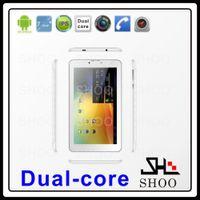Gros-Domi 7 pouces MTK6572 dual core Android 4.0 512M 4GB GPS BLUETOOTH FM GSM WCDMA 3G carte tablet pc 3g sim fente capacitifs