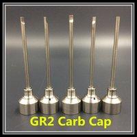 Wholesale High Quality GR2 Carb Caps Domeless Titanium Ti Nail Male Female Dabber Grade VS Ceramic Quartz Nails for Glass Water Pipe Bongs