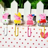 best paper clips - 4pcs Cute Pig bookmark Paper Clips Bookmark for Book Page Holder School Office Supplies Stationery Minions school Clip Teather best Gifts