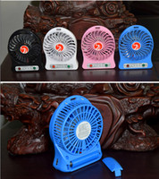 Wholesale colors portable mini fan Attractive Portable Mini Battery Operated Desk Cool Cooler Fan with Rechargeable mah