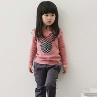 Wholesale 2015 New Kids Toddler Clothes Girls Polka Dot Long Sleeve Casual T Shirt Blouse Tops
