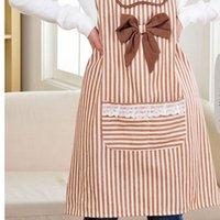cotton apron - Stripe Cotton Apron Women Protection Pinafore
