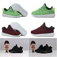 Wholesale Originals Kanye West Boost Green Burgundy Black Fashion Children Shoes Boys Girls Shoes Athletic Shoes Sneakers Kids Shoes