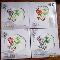 Wholesale Unique White Silk Embroidered Handkerchief Party Favors Gift Flower Design Women s Accessories mix style