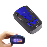 av red - 360 Degree Car Speed Radar Detector Voice Alert Detection Shaped Safety for Car GPS Laser LED