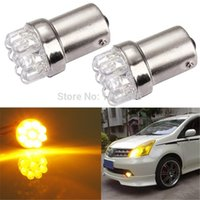 amber tail - 2pcs BA15S LED Amber Yellow Car Tail Brake Turn Signal Bulbs Lamps Lights P21W For DC V order lt no track