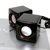 Wholesale USB Multimedia Speaker Mini Loudspeakers for mm USB Power Laptop Computer Notebook Audio Speaker Amplifier
