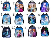 Wholesale 2014 kids backpacks for girls inches frozen backpacks anna elsa children s school bag D travel Zipper Notebook Bag