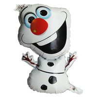 Wholesale 10pcs Globos Party Happy Birthday Decoration Olaf Balloon For Kids Party Foil Balloons Ballons