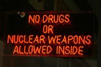 bar drugs - 24X20 quot NO DRUGS OR NUCLEAR WEAPONS ALLOWED INSIDE HANDIWORK NEON SIGN REAL GLASS TUBE BEER BAR PUB Neon Light Sign customer store display