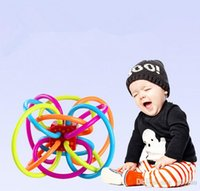 Wholesale New manhattan toy winkel teethers Rattle and Sensory Teether Activity Rings Baby Feeder Silicone Teething Toys Baby Products for Teeth ball