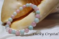 beryl crystals - High Quality Lucky Crystal Fine Jewelry Natural Pink Beryl Morganite Crystal Beaded mm