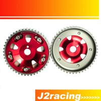 Wholesale J2 RACING STORE Adjustable Cam Gear pair pc FOR Toyota S GTE MR2 CELICA CALDINA RED PQY6533R