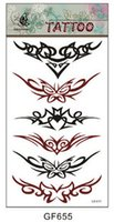 Wholesale Top Selling Sexy Cool Unisex Black and red Nontoxic Waterproof Temporary Waist Fake Tattoo paper Sticker Paster Letters