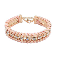 Wholesale Women star style Candy Color Bracelets bangles Gold Alloy Bracelet for women Chunky Chain Bracelets
