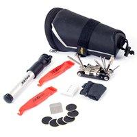 Wholesale SALE Bike Repair Tool Bag Mini Pump Folding Tool in Bicycle Tyre Tire Repair With Saddle Bag Multifunctional Tools Set Kit
