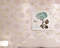 Wholesale 3 D rural non woven wallpaper Contracted and contemporary sitting room wallpaper The bedroom TV setting wall