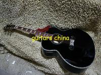 Wholesale NEW Custom LOGO Black Acoustic Electric Guitar With Fishman Abalone shell binding OEM guitar