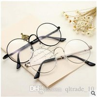 Wholesale 50pcs CCA2376 Hot Vintage Harry Potter Glasses Round Eyeglass Frames Halloween Cosplay Harry Potter Black Gold Silver Plain Mirror Glasses