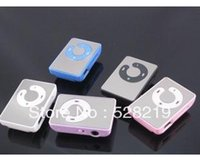 Wholesale 40X Hot Fashion Mini Sports Mirror Clip MP3 Music Player with Card Slot without Retail Box Colors