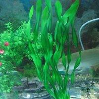 Wholesale Fish Tank Aquarium Simulated Big Leaf Creature Green Plant Ornament Aquarium Decoration Decor Landscape G01172