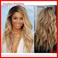 blonde human hair wigs - 100 human hair wigs for african americans blonde full lace wig glueless ombre wig b brazilian virgin hair no sheddings