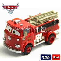 Cheap Brand new cars pixar 2 Red fire truck diecast metal toy car New In Box kids toys for children without retail box A2