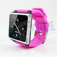 apple nano wristband - Multi Touch iWatchz bracelet wrist Watch band Strap Rubber Cover case lock For Apple iPod Nano mp4 player with Retail box