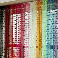 Wholesale Cute Heart Line Tassel String Door Curtain Window Room Divider Curtain Valance