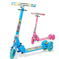 Wholesale Children s three roller skating a scooter Flash block Three wheeled scooter slide block toys