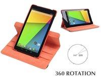 Gros-pour Google Nexus 7 2nd Gen 2015 Version intelligente cuir stand Case 360 Rotation Flip avec WakeUp magnétique / sommeil Livraison gratuite