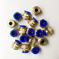 Wholesale 10pcs mm Tube Male straight Pneumatic Fitting Quick joint connector