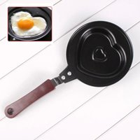 Wholesale Newly Design Black Healthy Nonstick Stainless Steel Heart Frying Pan Eco Fry Eggs Pan Sep17